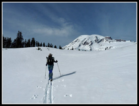 Gary Skiing On Mazama Ridge