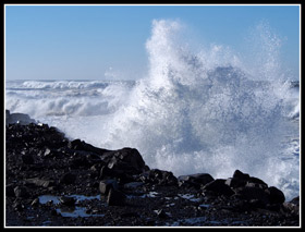 Crashing Waves At The North Jetty